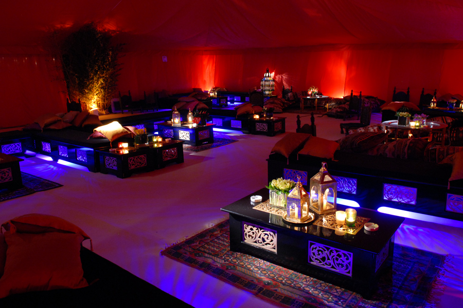 Marquee chill out space