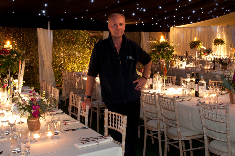 Olly Morris-Adams of Flint and Lambourn Marquees