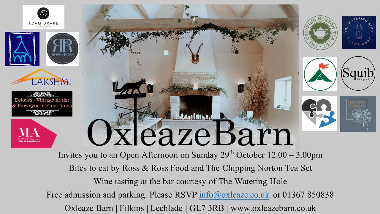 Oxleaze Open Day 29th Oct 2017
