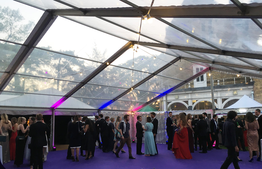 College Ball Marquee by Flint & Lambourn Marquees