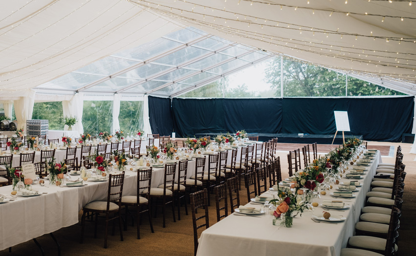 Clear Roof Marquee by Flint & Lambourn Marquees
