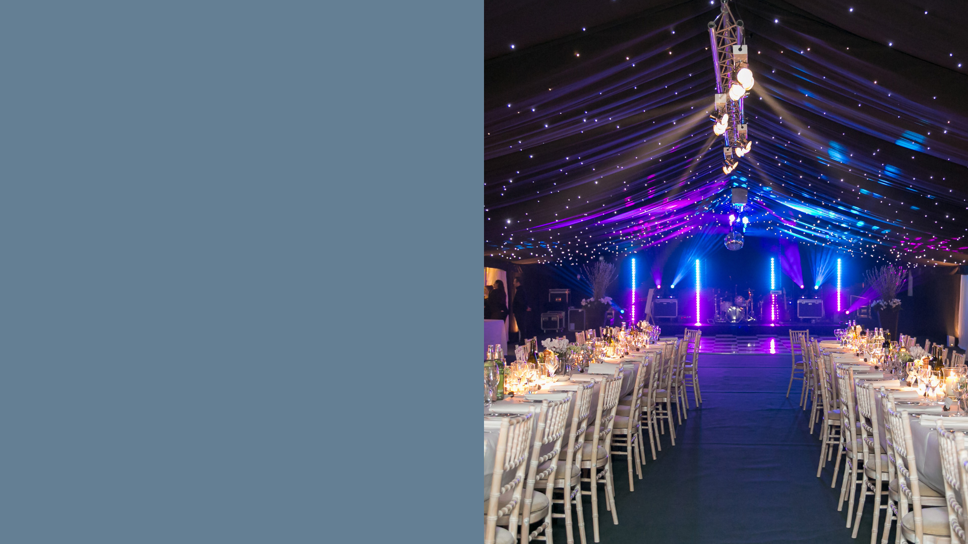 Marquee lighting and dancefloor