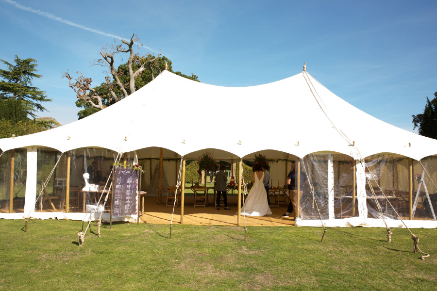 Traditional Pole Marquee Wedding.