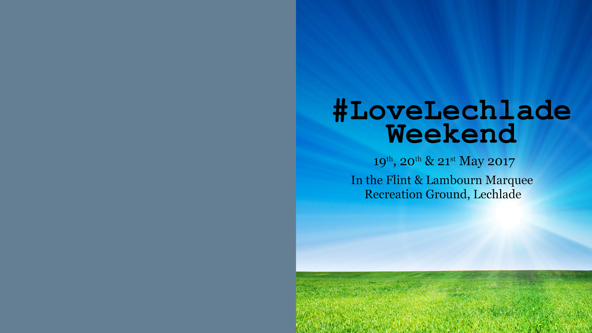 Love Lechlade, hosted by Flint & Lambourn Marquees Ltd